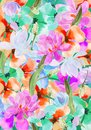 Flowers background different hand drawing for design Stock Photography
