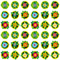 Flowers background endless luxury underlying grid for packaging printing paper wallpaper tiles fabrics and accessories with the Royalty Free Stock Photography