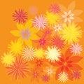 Flowers background vector illustration natura Stock Image