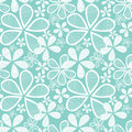 Flowers on Blue Seamless Background Royalty Free Stock Photo