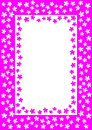 Flowers border frame with inner space to write message or pin image Stock Images