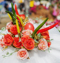 Flowers bouquet arrange for decoration Royalty Free Stock Photo
