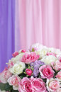 Flowers bouquet arrange for decoration with sweet color background Royalty Free Stock Images