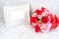Flowers Bouquet Placed With Pi...