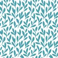 Flowers branches with leaves decorative pattern