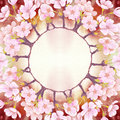 Flowers of cherry tree. Abstract wallpaper with floral motifs. Wallpaper.