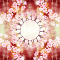 Flowers of cherry tree. Seamless pattern. Abstract wallpaper with floral motifs. Wallpaper. Royalty Free Stock Photo