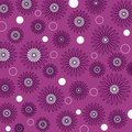 Flowers and circles Royalty Free Stock Images