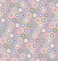 stock image of  Flowers and circles seamless vector pattern in mosaic style