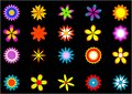 Flowers clip art Royalty Free Stock Photos