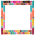 Flowers collage decorative frame border nice Stock Image