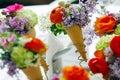 Flowers In Cornets