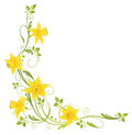 Flowers daffodils colorful decoration easter and spring vector element Royalty Free Stock Image