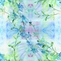Flowers - decorative composition. Watercolor. Seamless pattern. Use printed materials, signs, items, websites, maps, posters, po