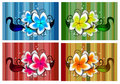 Flowers Design In Different Colors Stock Photography