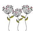 Flowers design over white background vector illustration Royalty Free Stock Image
