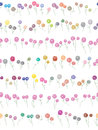 Flowers Divider Seamless Pattern_eps Stock Photography