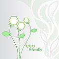 Flowers eco friendly illustration showing environmentally technologies vector graphics Stock Image