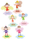 Flowers fairies Royalty Free Stock Image