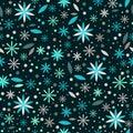 Flowers floral seamless pattern backgroun