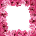 Flowers frame,  floral vector background Royalty Free Stock Image