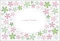 Flowers frame horizontal oval of the flower pattern Royalty Free Stock Photo