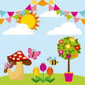 Flowers and fungus icon