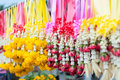 Flowers and garlands for sale Royalty Free Stock Image
