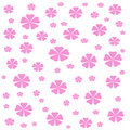 Flowers gift wrap Royalty Free Stock Photography