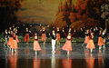 Flowers and girl surrounded by prince ballet swan lake in december russia s st petersburg theater in jiangxi nanchang performing Stock Images