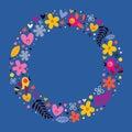 Flowers, Hearts, Birds Love Na...