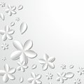 Flowers illustration on grey background Royalty Free Stock Image