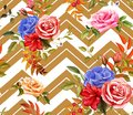Vector rose flower floral seamless pattern