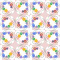 Flowers, leaves and love birds seamless pattern Stock Image