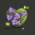 Flowers of a lilac in the form of a heart valenti valentines day vector illustration Royalty Free Stock Photos