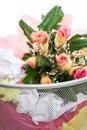 Title: Flowers from a man in dust bin