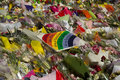 Flowers at martin place a photograph of placed after the sydney siege in december on – december a lone gunman man haron monis Stock Photography