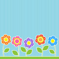 Flowers in patchwork style Royalty Free Stock Photo