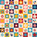 Flowers pattern Stock Photo