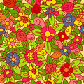 Flowers pattern seamless Royaltyfria Bilder