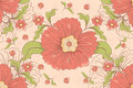 Flowers pattern a vector illustration of flower design Royalty Free Stock Images