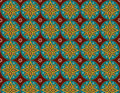Flowers patterns background thai make with program and good work Royalty Free Stock Photos