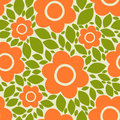 Flowers and petals. Seamless vector floral pattern. Royalty Free Stock Photo