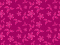 Flowers pink pattern Royalty Free Stock Photos