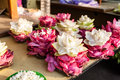 Flowers for pray in Buddhism religion, used as offerings. Royalty Free Stock Photo