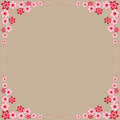 Flowers, red, pink, frames, gray background, colorful flowers, beautiful, interesting ideas for decorating postcards, for any holi