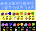 Flowers.ribbons nahtlose Muster Stockbild
