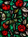 Flowers (roses) in stained glass Royalty Free Stock Photo