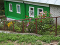 Flowers the rural street in old russian city kasimov Royalty Free Stock Photography
