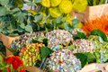 Flowers for sale at a flower market, Amsterdam, The Netherlands Royalty Free Stock Photo